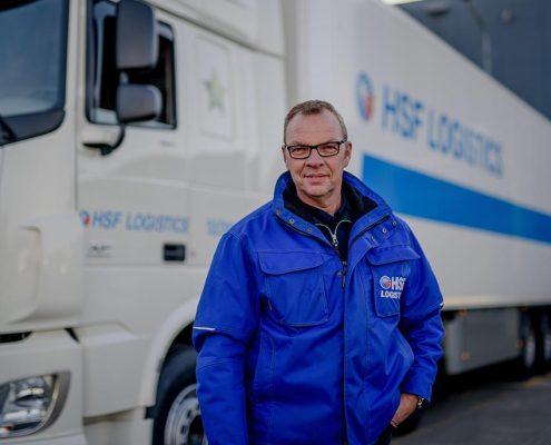 Cees pesman chauffeur bij HSF Logistics