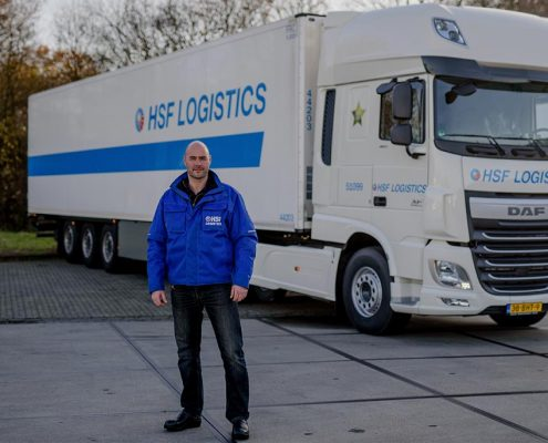 Richard is al 2,5 jaar chauffeur bij HSF Logistics