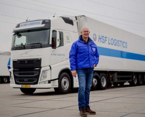 Rinus chauffeur bij HSF Logistics